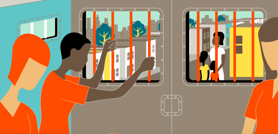 Illustrazione tratta dal long-form del New York Times su Orange is the new black.