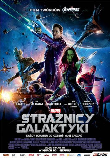 Polski plakat filmu 'Strażnicy Galaktyki'