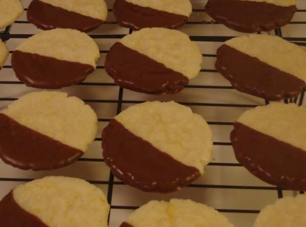 Chocolate Dipped Orange Butter Cookies Recipe