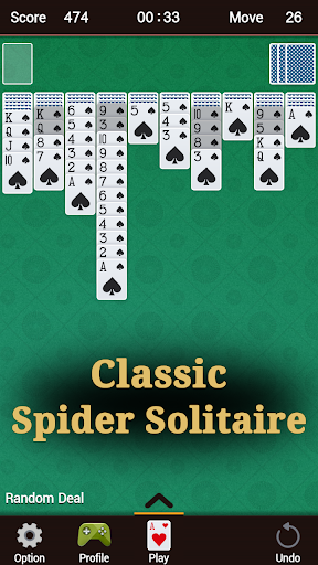 Spider Solitaire 1.30 screenshots 1