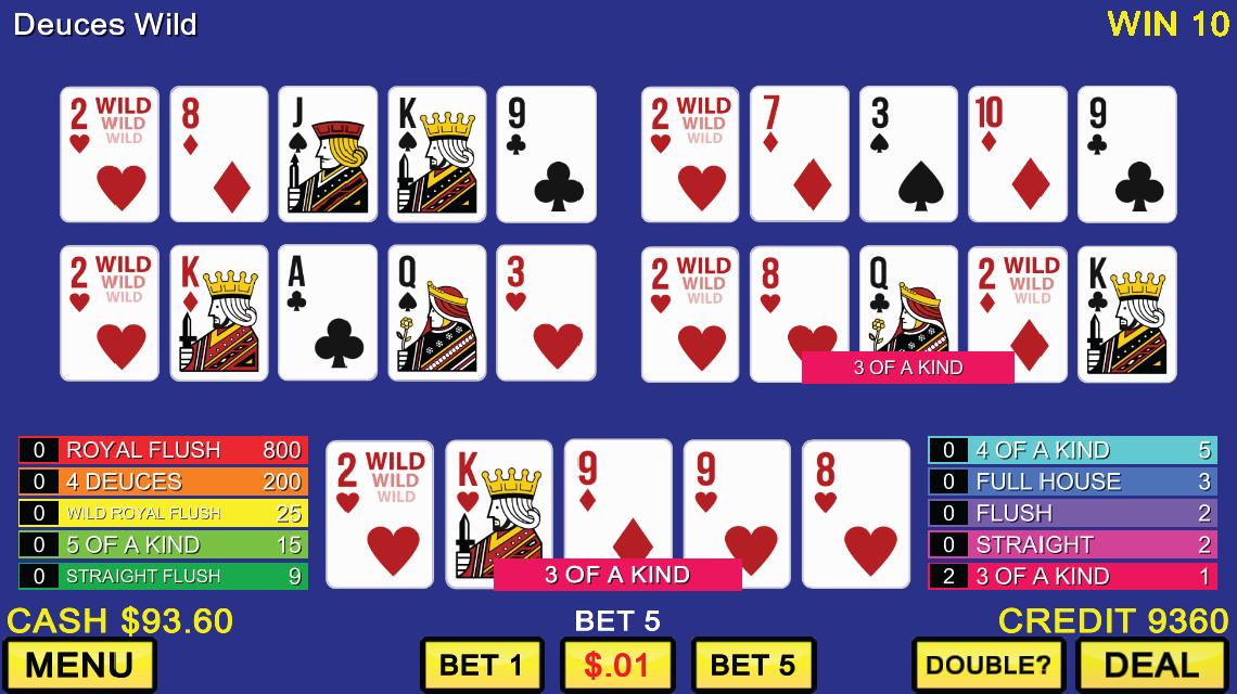 free casino jacks or better poker