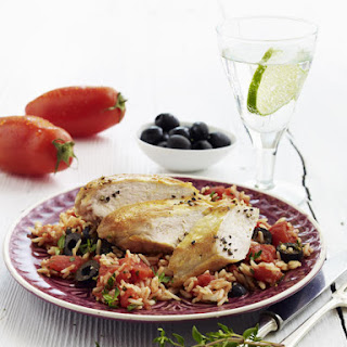 Chicken with Tomato Rice Pilaf