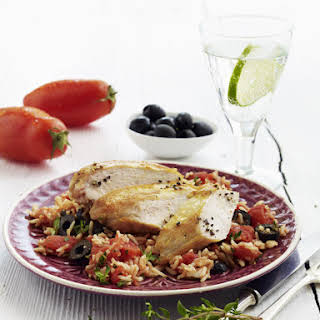 Chicken with Tomato Rice Pilaf.