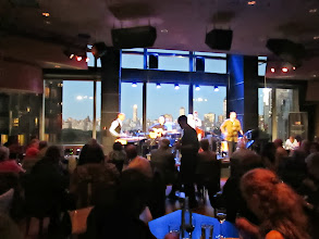 Photo: The jazz band starts right when we were about to be served the entrees. I love Dizzy's Club Coca-Cola, I mean look at that view! I can see so much of the city, Columbus Circle is located on the west corner of Central Park so from Time Warner Center you get an excellent view.