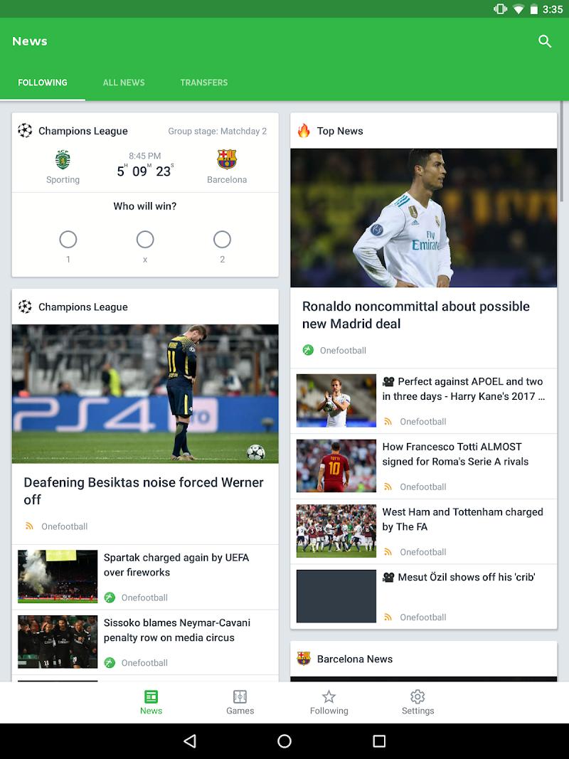 Onefootball Live Soccer Scores Screenshot 5