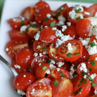 Cherry Tomato and Blue Cheese Salad.