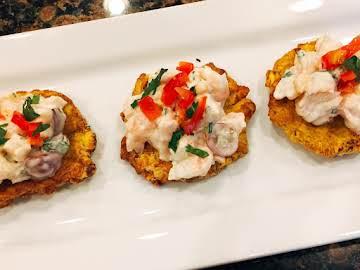 Panamanian style shrimp salad