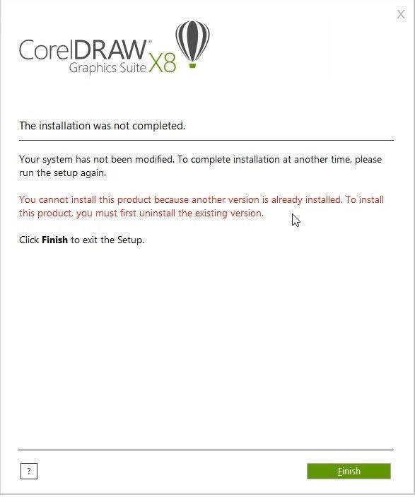 lỗi corel Draw x8