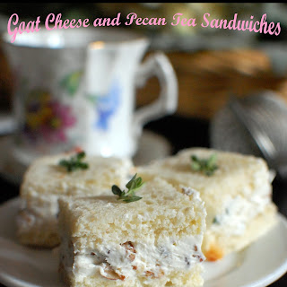 Goat Cheese and Pecan Tea Time Sandwiches
