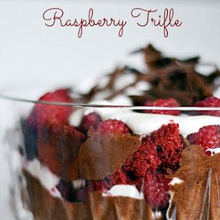 Red Velvet Raspberry Trifle