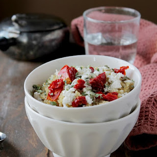 Quinoa with Sun Dried Tomatoes and Feta.
