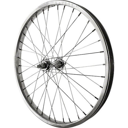 Sta-Tru Front Wheel 20 inch Silver Steel Rim with Solid Thread on Axle