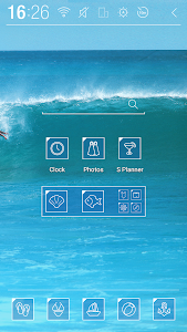 Surfing wave Atom Theme screenshot 2