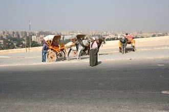 Photo: Accès au plateau de Guizeh