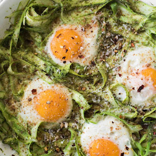 Pesto Asparagus Egg Skillet.