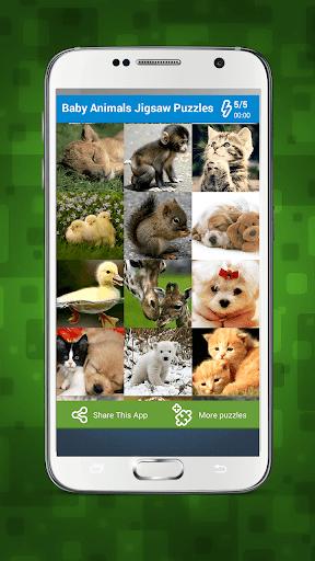 動物の赤ちゃん パズルゲーム 子供のための