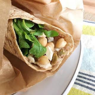 Chickpea Hummus Wrap.