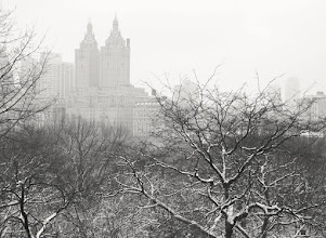 """Photo: """"Deliquesce...""""  In the yawning hours of the morning, the earth stretches its snow-laden limbs skyward and the clouds leave a dissolving trail of heart-heavy whispers in their wake as all of the city's structures deliquesce into nothingness.    New York Photography: Central Park winter view from the top of Belvedere Castle.    You can view this post if you wish at my site here:  http://nythroughthelens.com/post/17425680875/view-from-belvedere-castle-in-the-snow-overlooking -  Tags: #photography #writing #poetry #prose #winter #snow #nyc #newyorkcity #centralpark #centralparksnow #landscape"""