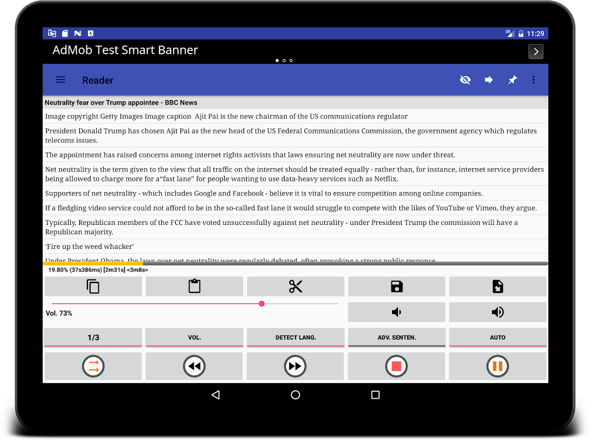 Read documents aloud using Android text to speech ...