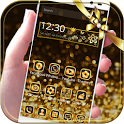 Gold Glitter theme Neon Gold icon