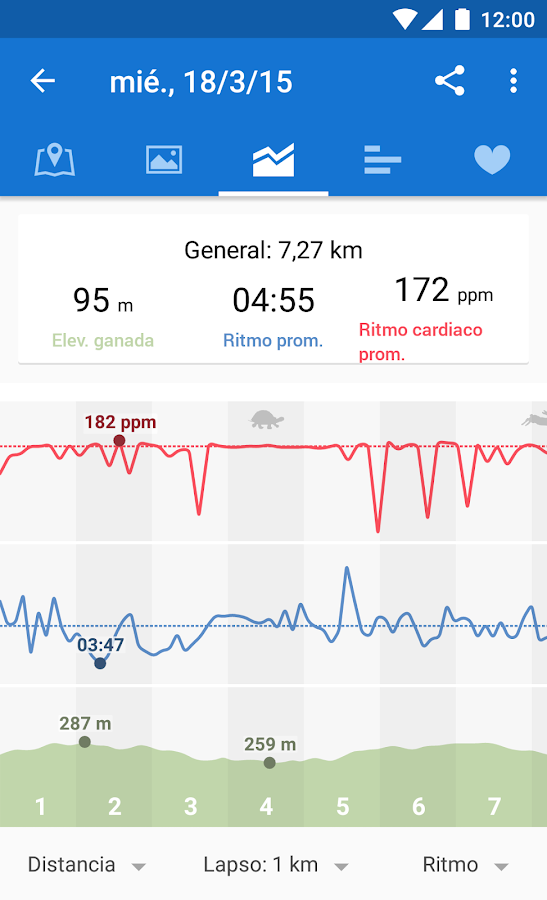 Runtastic GPS Running, Fitness: captura de pantalla