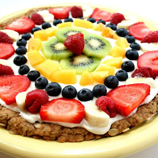 Healthy Fruit Pizza.