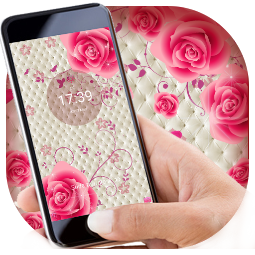 Cute Pink Romantic Rose Locker Theme