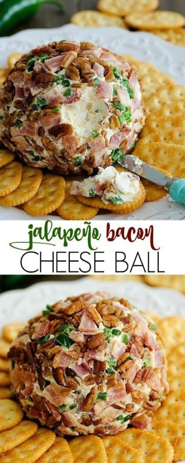 Wrap cheese ball in plastic wrap and refrigerate for at least an hour before...