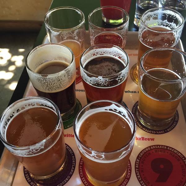 8 gf beer tasting