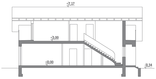 Szczupły - wariant II - C203b - Przekrój