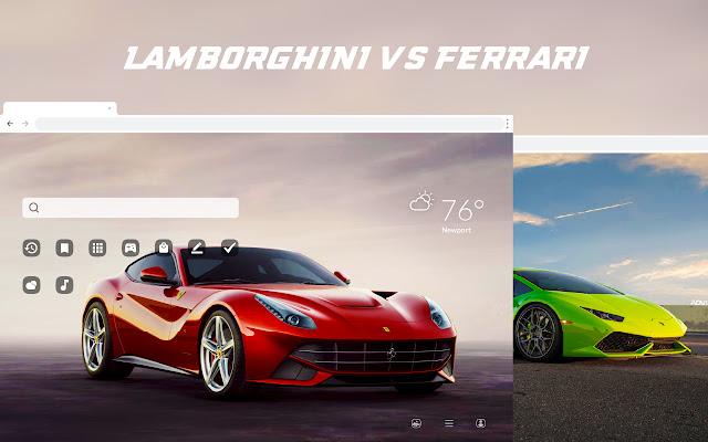 Lamborghini vs. Ferrari HD Wallpaper Theme
