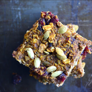 Pumpkin Cranberry Oat Bars.