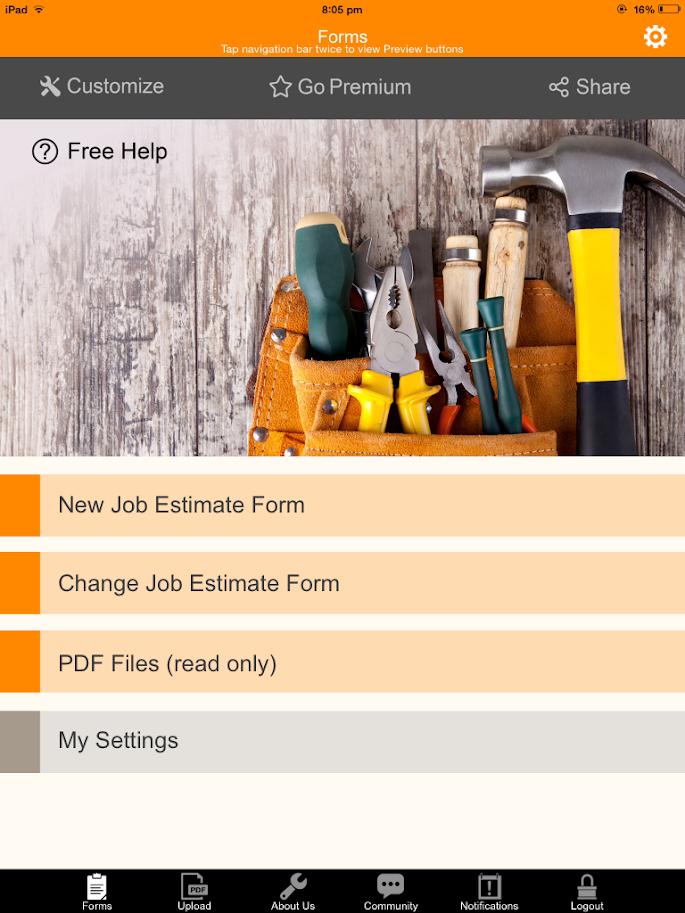 Job Estimate and Repair Order 7