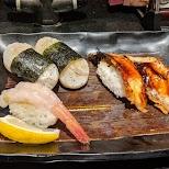 sushi in Osaka in Osaka, Osaka, Japan