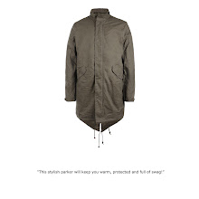 Photo: Depot Parka>>  UK> http://bit.ly/Moohdj US> http://bit.ly/KRveVL  Half lined, vintage inspired parka, with a concealed zip front fastening, military pocket details, working cuffs and AllSaints branded real horn buttons. The Depot Parka is made from the finest cotton which has been treated with a wax coating, then crushed and distressed to create an authentic vintage finish