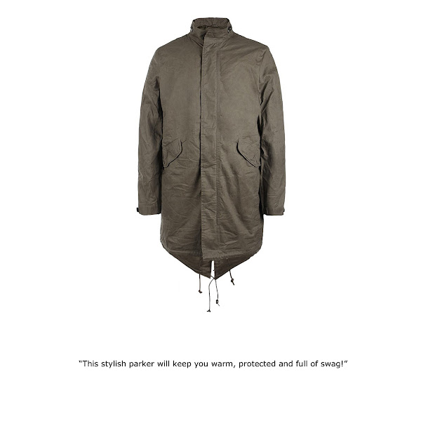 Photo: Depot Parka>>  UK>http://bit.ly/Moohdj US>http://bit.ly/KRveVL  Half lined, vintage inspired parka, with a concealed zip front fastening, military pocket details, working cuffs and AllSaints branded real horn buttons. The Depot Parka is made from the finest cotton which has been treated with a wax coating, then crushed and distressed to create an authentic vintage finish