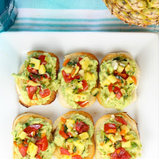 Pineapple Pico de Gallo Avocado Toasts