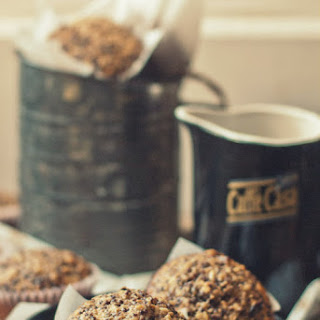 Coconut Red Quinoa Muffins with Sour Cherries and Pecans