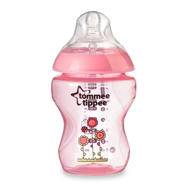 TOMMEE TIPPEE Closer to Nature 260ml/9oz Pink Bottle (BPA Free) by GREEN WHEEL INTERNATIONAL SDN BHD