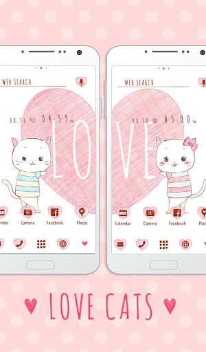 Pair Wallpaper - Love Cats 1.0.0 Windows u7528 1