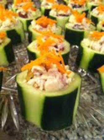 Cucumber Cups with Chicken Salad Recipe