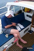 Photo: David studying his new GPS
