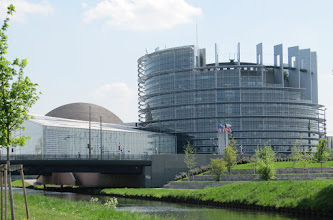 Photo: Day 27 - This Impressive Building is the European Parliament in Strasbourg