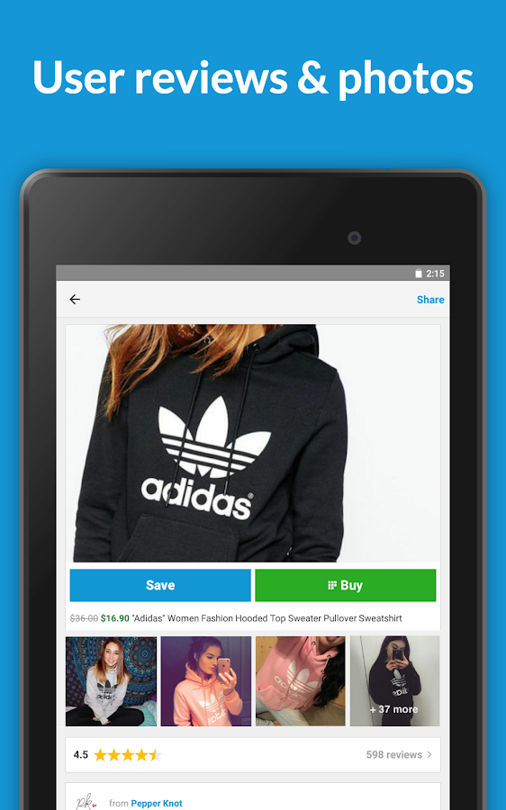 Wanelo Shopping- screenshot