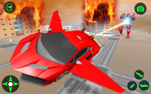 Flying Car- Super Robot Transformation Simulator apkpoly screenshots 21