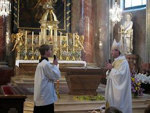 Photo: Zachäus (links) und Jesus (rechts)