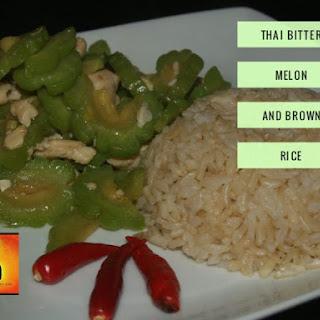 Thai Bitter Melon, Bitter is Better (ผัดมะระใส่ไก่)