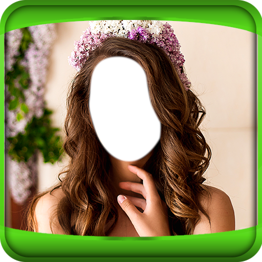 Flower Hairstyle Photo Montage