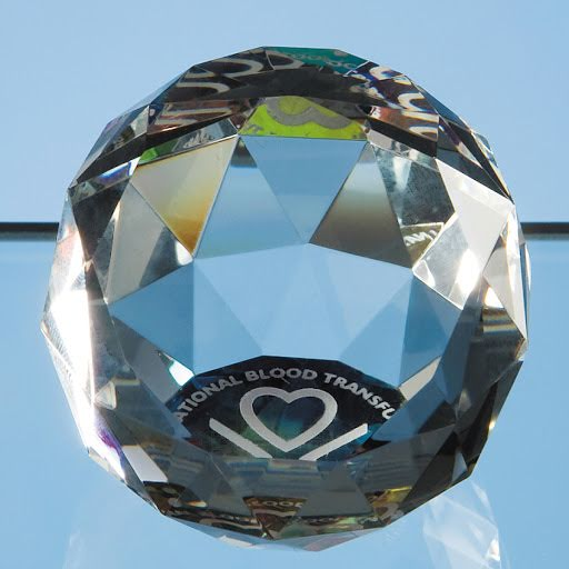 11cm Optical Crystal Star Paperweight