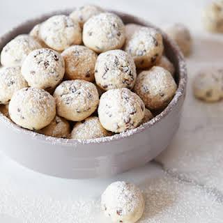 Mini Chip Snowball Cookies.